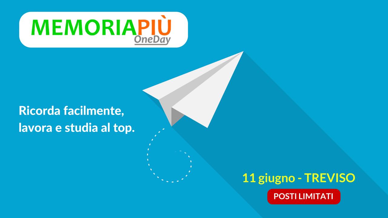 Memoria Più OneDay - Treviso - 11 giugno